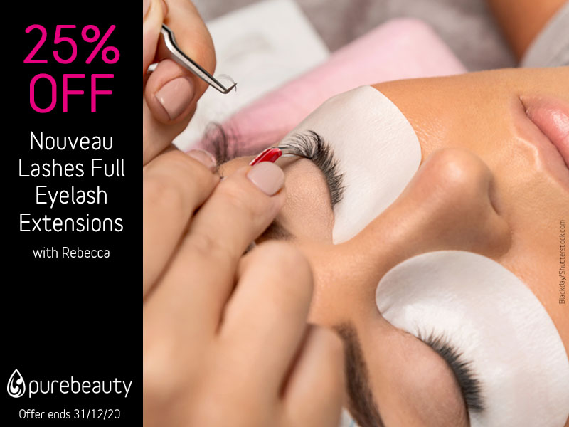 December 2020 Nouveau Lashes Full Eyelash Extensions Offer