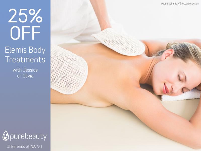 September 2021 Elemis Body Treatments Offer
